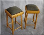 Bar Stool Dark Green Fabric