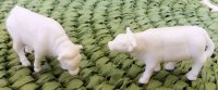 "1/4"" Scale Cows White"