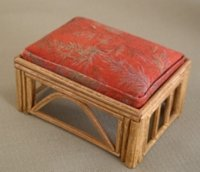Rattan Ottoman - Red Mist Rectangle