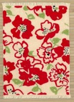 Retro Red Contemporary Floral