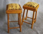 Bar Stool Asian Fabric