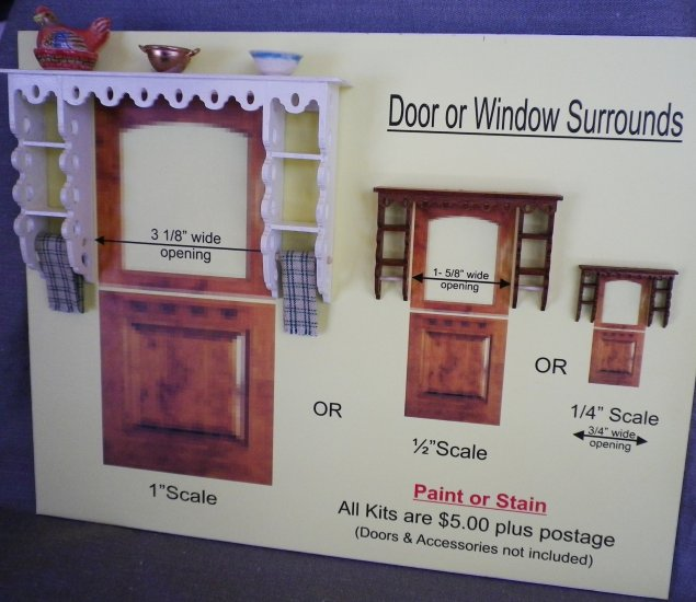 Door / Window Surround Kit (1/2 inch scale) - Click Image to Close