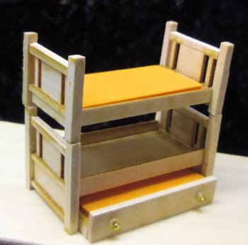 "2016 Bunkers Bunk Beds 1/4"" Scale - Cherry or Maple Kit"