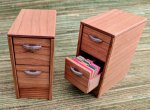 "2 Drawer File 1/2"" Scale Kit with File Folders"