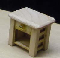 "Night stand 1/4"" scale - Cherry or Maple"
