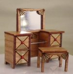 Art Deco Dressing Table with Bench KIT
