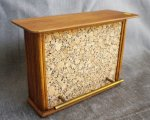 "Bar 1"" Scale Rattan, Teak & Cork"