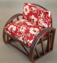 Rattan Chair - Retro Red