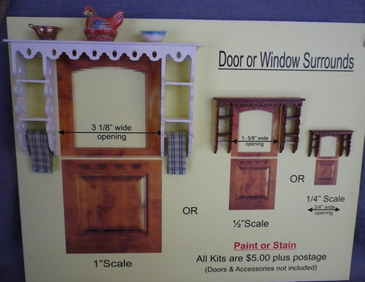 Door / Window Surround Kit (1/4 inch scale) - Click Image to Close