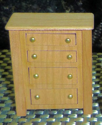 "Dresser (4 drawer) 1/2"" scale - Cherry or Maple"