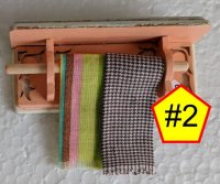 "Shabby Chic Towel Racks 1"" Scale"