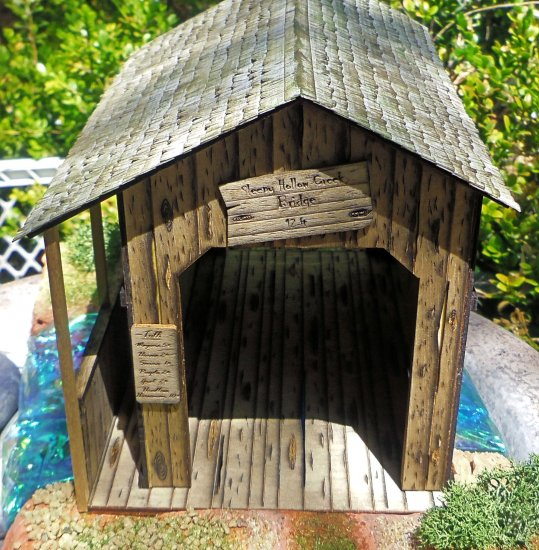 "Old Covered Bridge Kit 1/4"" Scale - Click Image to Close"