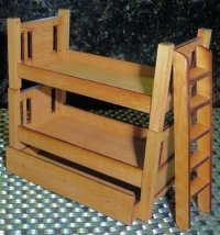 "2016 Bunkers Bunk Beds 1/2"" Scale - Cherry or Maple Kit"