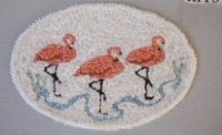 Flamingo Bathroom Throw Rug