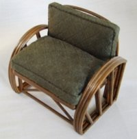 Rattan Chair - Solid Green