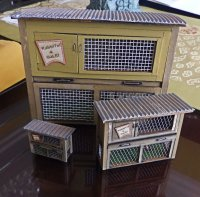 "1/2"" Scale Rabbit Hutch Kit"
