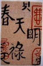 Asian Character Contemporary Rug