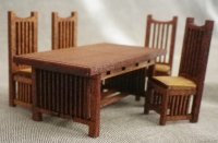 Stickley Dining Room Table & Chairs Kit