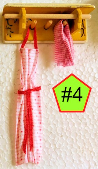 "Shabby Chic Apron/Towel Racks 1"" Scale - Click Image to Close"