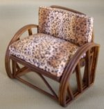 Rattan Chair - Leopard