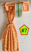 "Shabby Chic Apron/Towel Racks 1"" Scale"