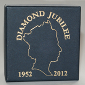 "1"" Scale Commemorative Plate - Queens Diamond Jubilee"