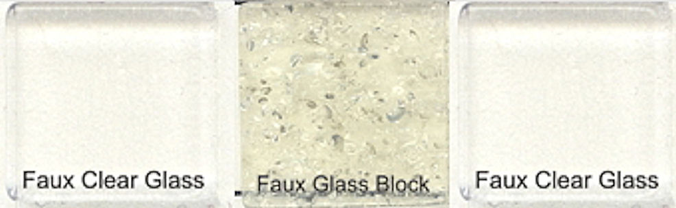 Faux Glass Clear & Obscured