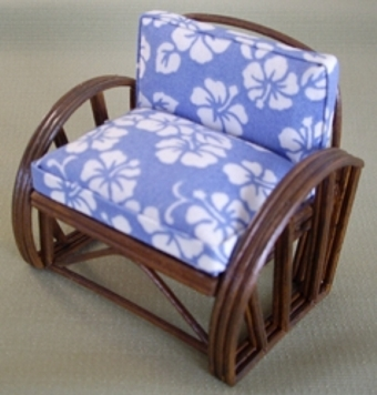 Rattan Chair - Tahiti Blue